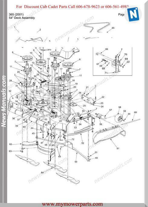 Cub Cadet Parts Manual For Model 365 2001