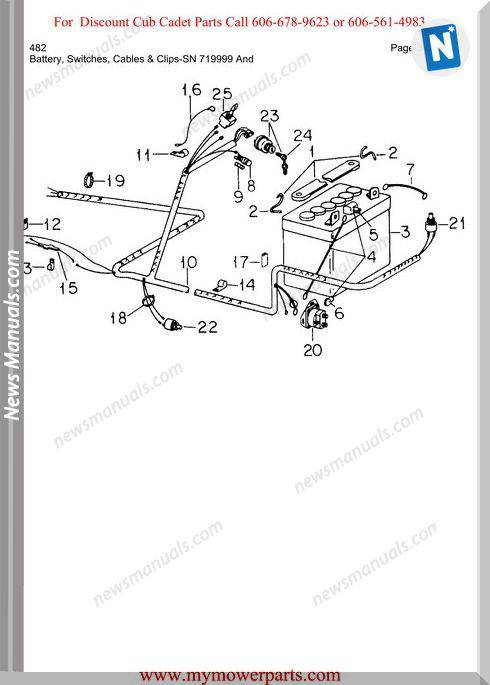 Cub Cadet Parts Manual For Model 482