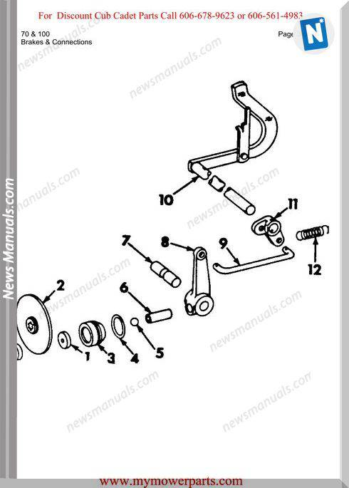 Cub Cadet Parts Manual For Model 70 And 100
