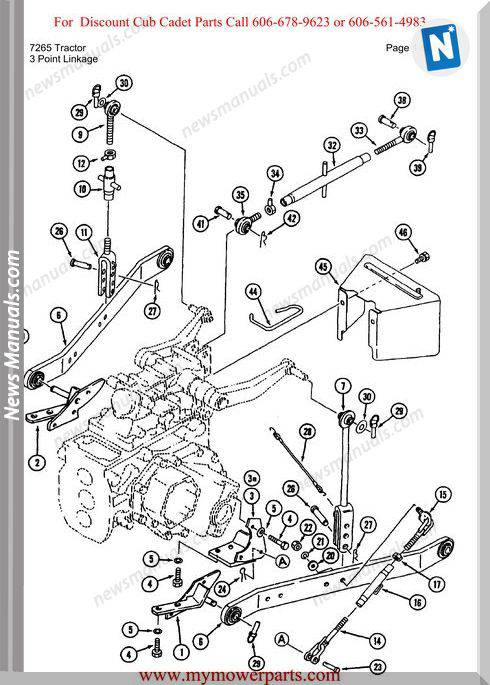 Cub Cadet Parts Manual For Model 7265 Tractor