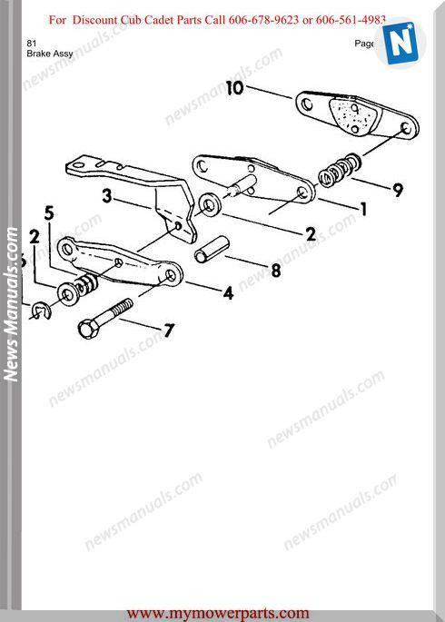 Cub Cadet Parts Manual For Model 81