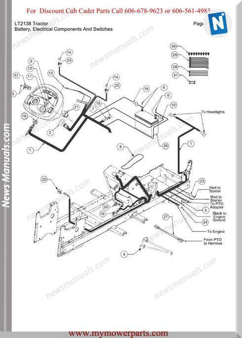 Cub Cadet Parts Manual For Model Lt2138 Tractor