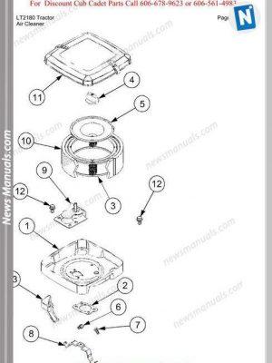 Cub Cadet Parts Manual For Model Lt2180 Tractor