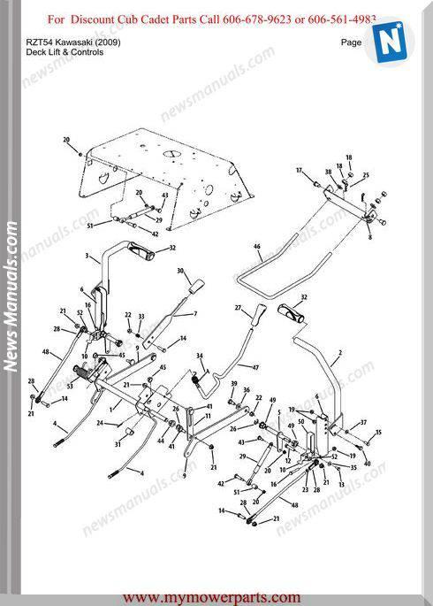 Cub Cadet Parts Manual For Model Rzt54 Kawasaki 2009