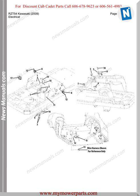Cub Cadet Parts Manual For Model Rzt54 Kawasaki 2009