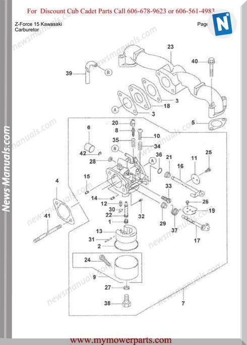 Cub Cadet Parts Manual For Model Z Force 15 Kawasaki