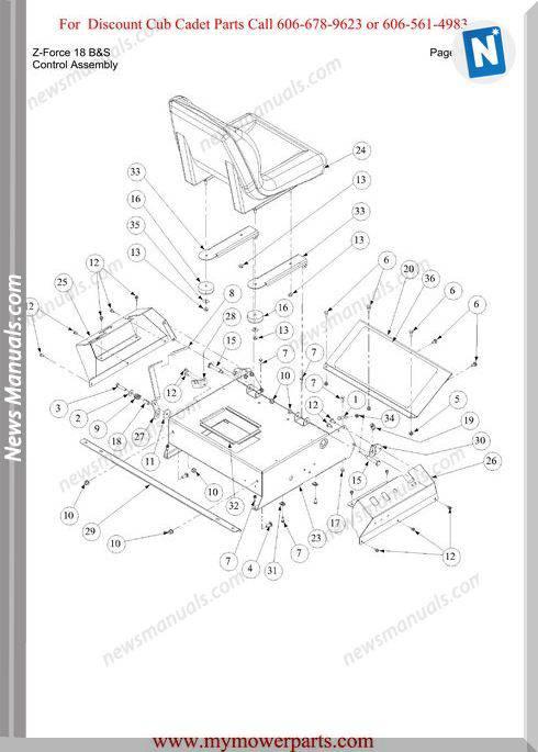 Cub Cadet Parts Manual For Model Z Force 18 Bands