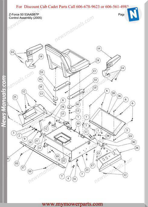 Cub Cadet Parts Manual For Model Z Force 50 53Aa5B7P