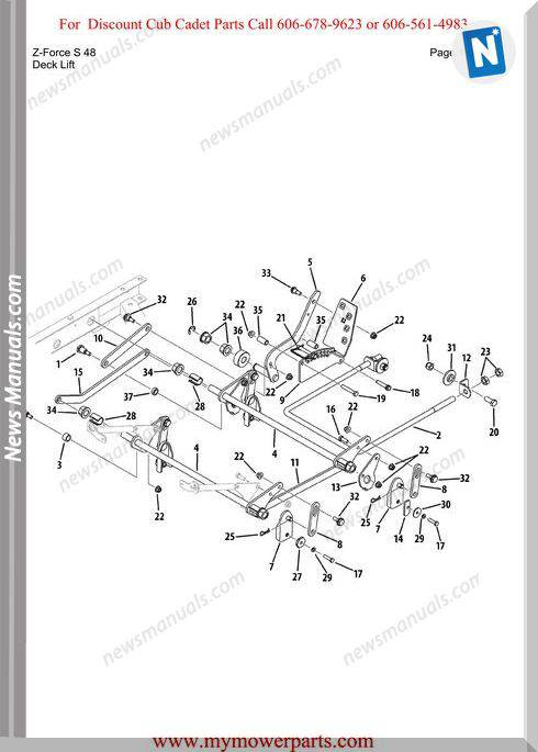 Cub Cadet Parts Manual For Model Z Force S 48