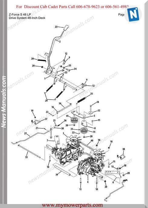 Cub Cadet Parts Manual For Model Z Force S 48 Lp