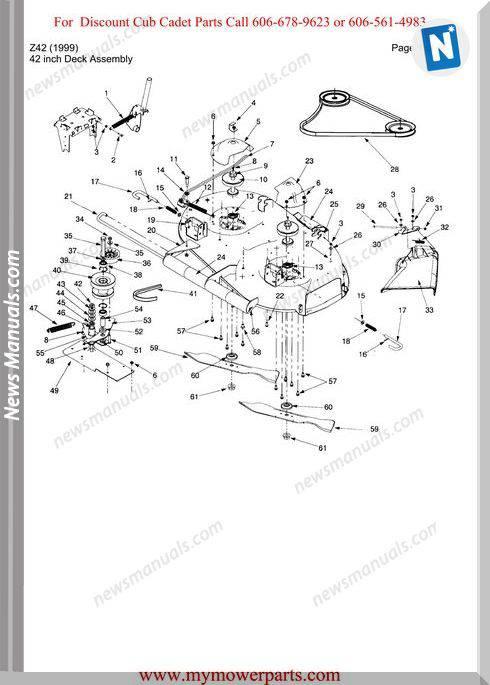 Cub Cadet Parts Manual For Model Z42 1999
