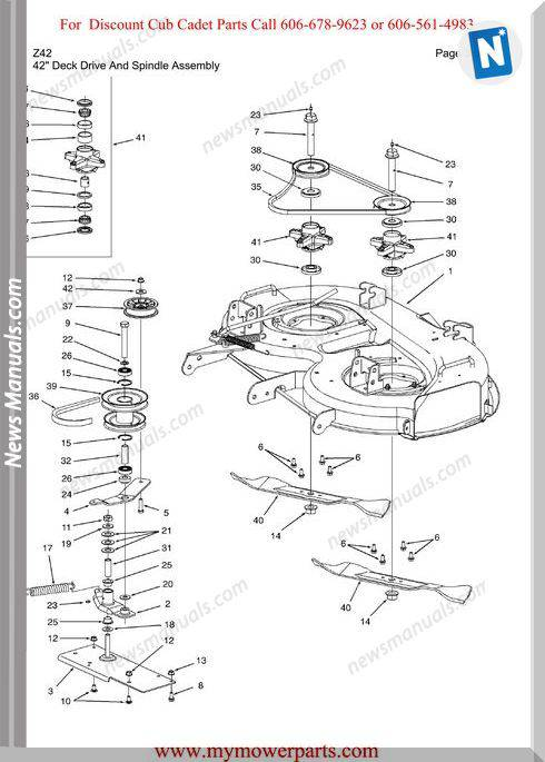 Cub Cadet Parts Manual For Model Z42