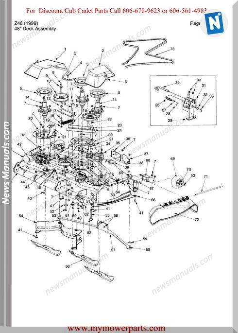 Cub Cadet Parts Manual For Model Z48 1999