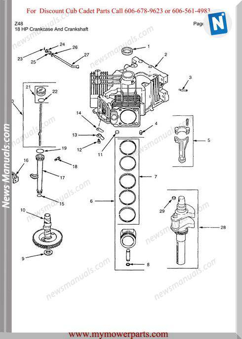 Cub Cadet Parts Manual For Model Z48