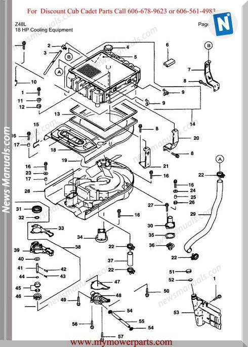 Cub Cadet Parts Manual For Model Z48L