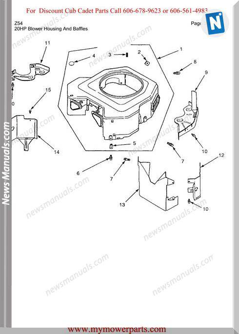 Cub Cadet Parts Manual For Model Z54