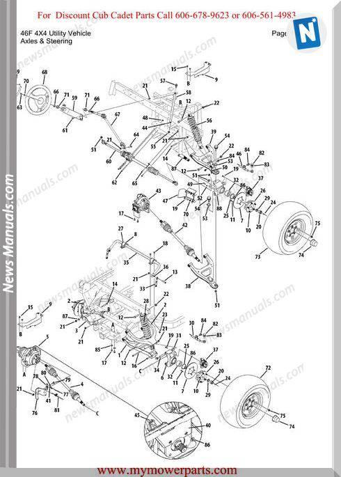 Cub Cadet Parts Manual46F 4X4 Utility Vehicle
