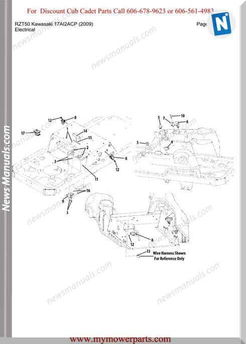Cub Cadet Rzt50 Kawasaki 17Ai2Acp 2009 Parts Manual