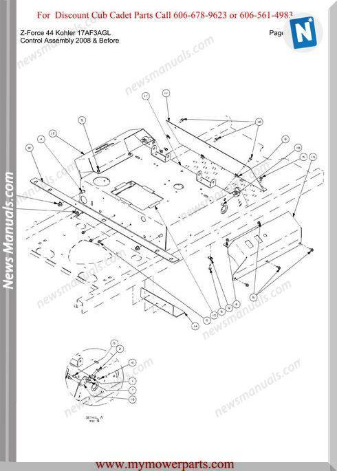 Cub Cadet Z Force 44 Kohler 17Af3Agl Parts Manual