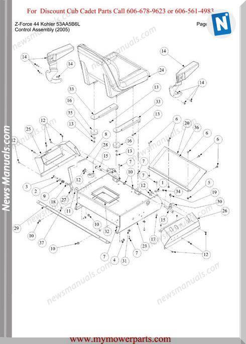 Cub Cadet Z Force 44 Kohler 53Aa5B6L Parts Manual