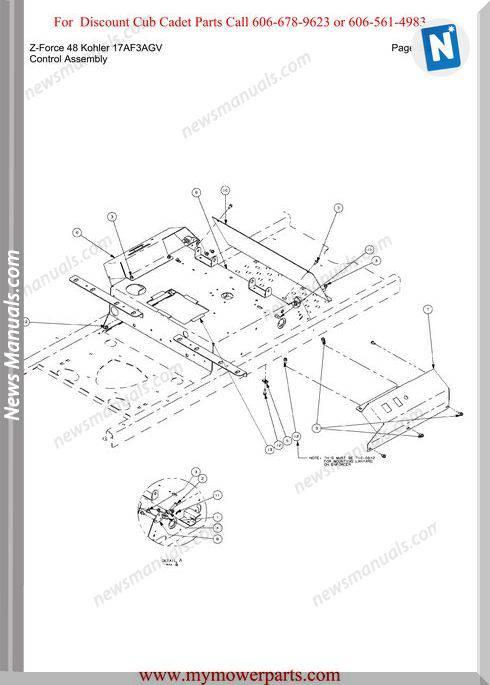Cub Cadet Z Force 48 Kohler 17Af3Agv Parts Manual