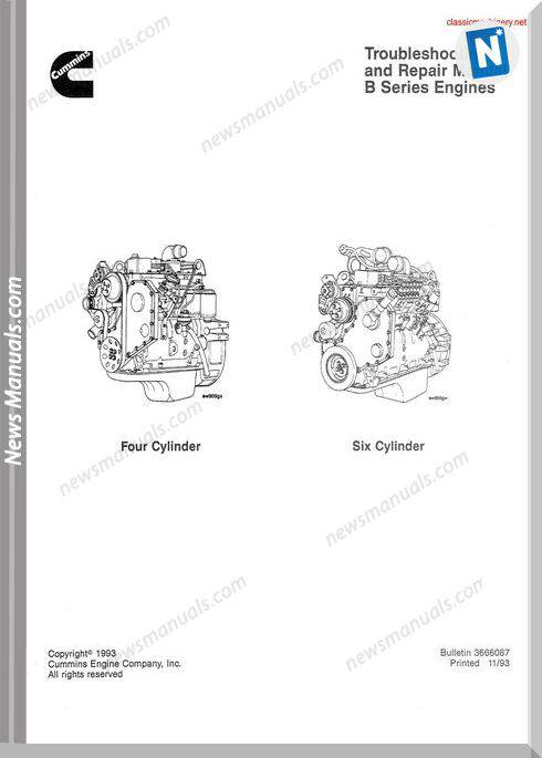 Cummins B Series Troubleshooting And Repair Manual