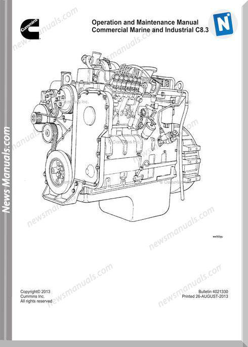 Cummins Commercial Marine C8 3 Operation Maintenance Manual