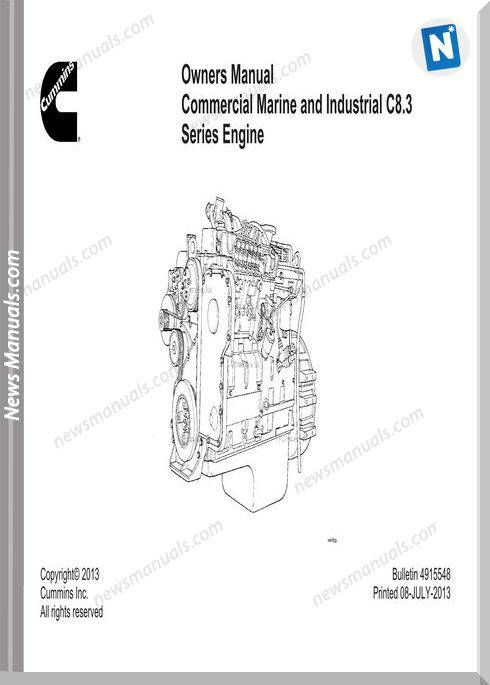 Cummins Commercial Marine C8 3 Series Engine Owners Manual