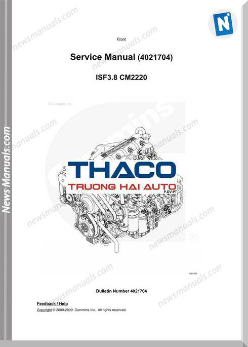 Cummins Engine Cm2220 Service Manuals