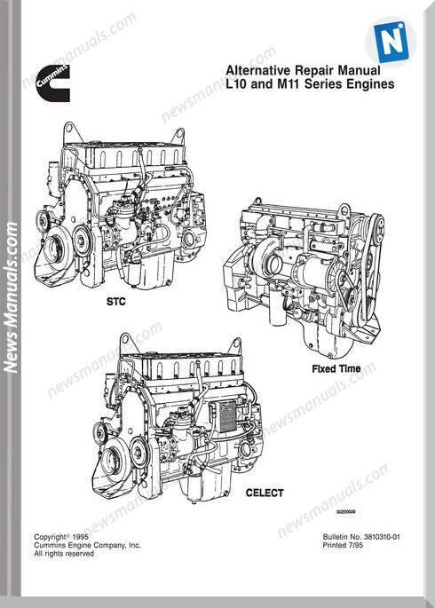 Cummins Engine L10 M11 Repair Manual