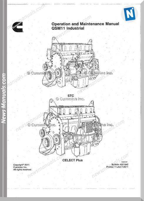 Cummins Engineqsm11 Operator And Maintenance Manual