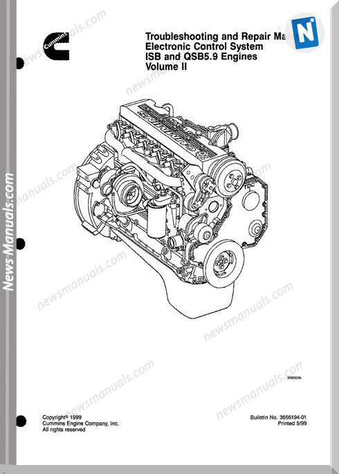 Cummins Isb Qsb 5.9 Engine Troublshooting Repair Manual