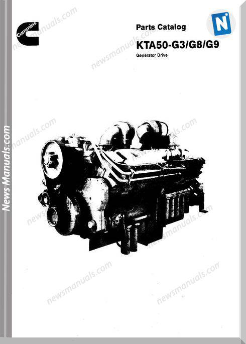 Cummins Kta50 G3 G8 G9 Parts Catalog