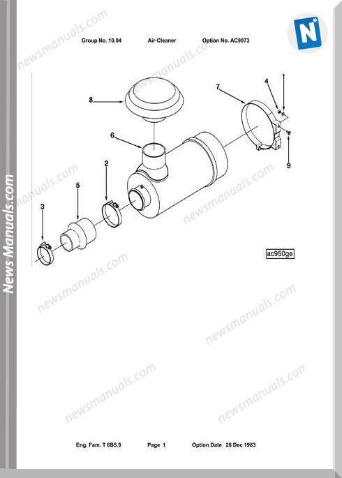 Cummins Parts Catalog 6Bta5 9 F1 F2 F4