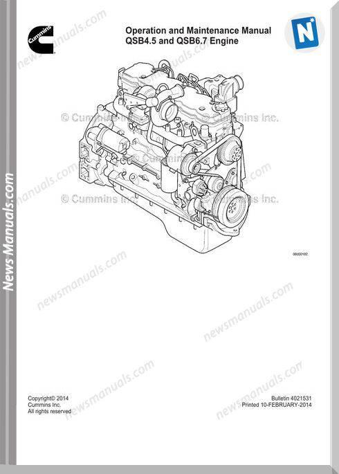 Cummins Qsc4 5 Qsb6 7 Engine Maintenance Manual
