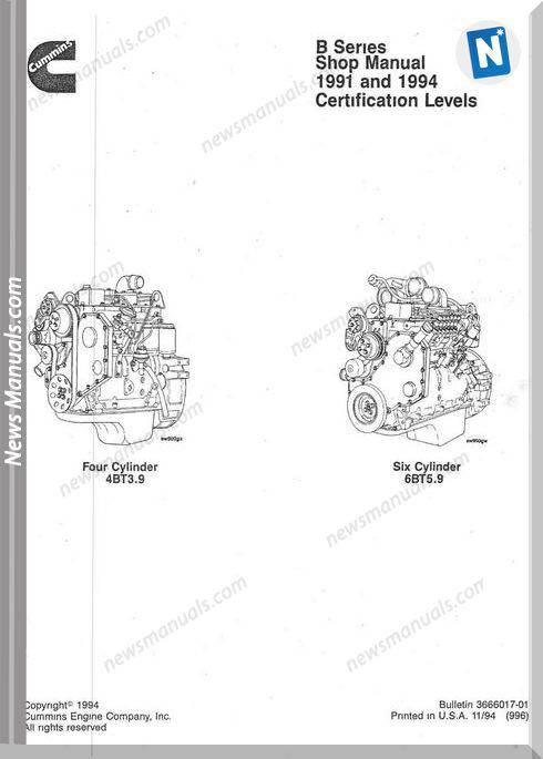 Cummins Shop Manual B Series