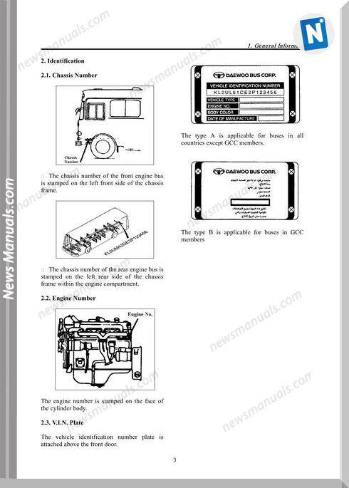 Daewoo Bus Chassis Service Manual