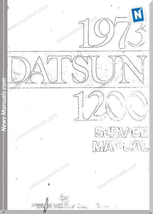 Datsun 1200 1973 Service Manual