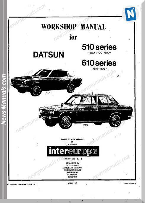 Datsun 1300 1400 1600 1800 Bluebird 160B 180B 1969