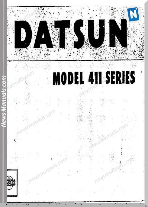 Datsun Service Manuals Model 411 Series