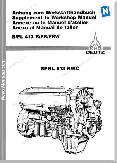 Deutz Bf6L513R Engine Diesel Shop Manual