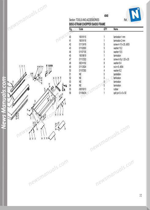 Deutz Fahr 4040-4045 Parts Manual