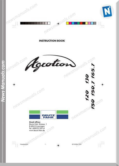 Deutz Fahr Agrotron 120-130-150-150.7-165.7 User Manual
