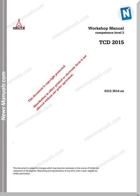 Deutz Tcd 2015 Workshop Manual