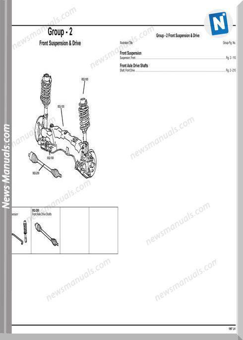 Dodge Chrysler Intrepid 1997 Lh Parts Catalog