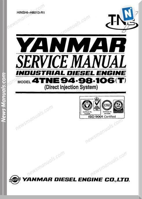 Doosan Daewoo Engine Solar 75 Yanmar Service Manual