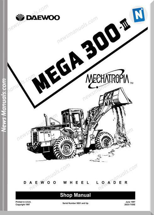 Doosan M300-Iii Wheel Loader Shop Manual