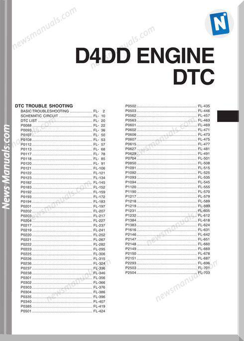 Dtc Trouble Shooting Procedures D4Dd Engine Hyundai Truck