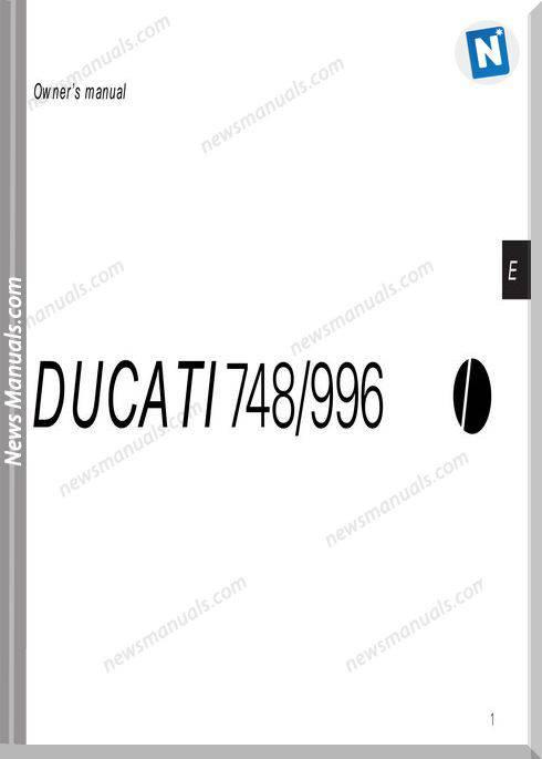 Ducati 748 996 99 Owners Manual