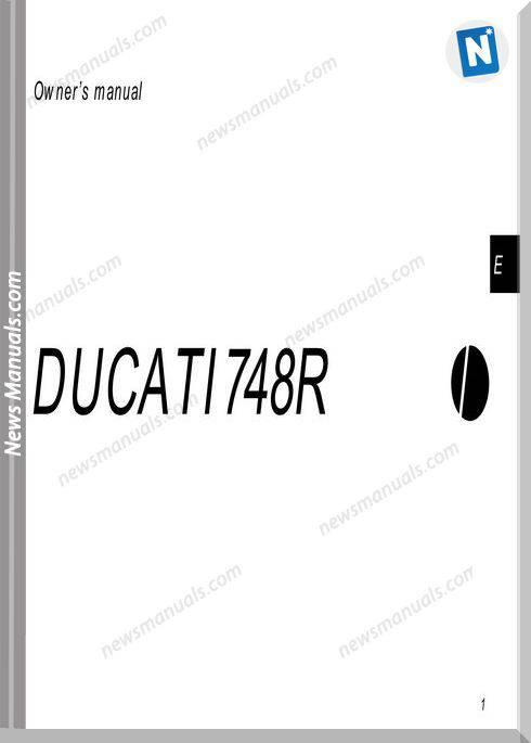 Ducati 748R Owners Manual
